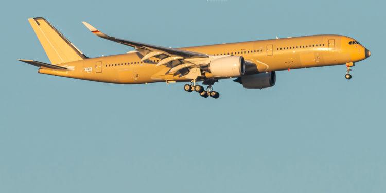 Alman Hava Kuvvetleri'nin A350'si ilk test uçuşunu gerçekleştirdi